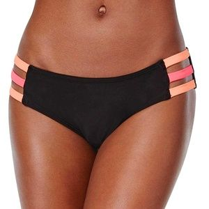 NWT Bikini Nation Block and Roll Strappy Bottoms
